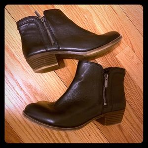 Lucky Brand Basel Bootie - black leather - size 8